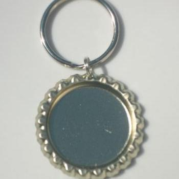 25 Flat Linerless Bottle Cap Key Chain or Zipper Pull Blanks Great for Birthday Party Favors